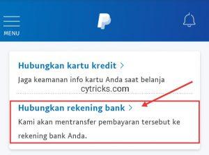 Hubungkan rekening Bank