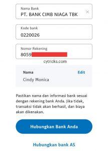 Hubungkan Bank Anda (akun Dana)