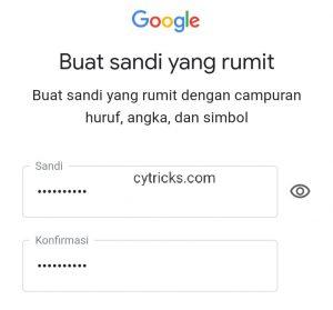 Buat sandi Gmail Anda
