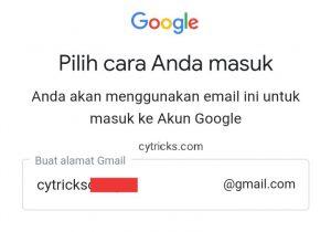 Buat nama alamat Gmail