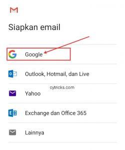 Menu Siapkan Email