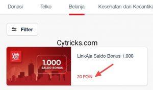 Pilih Saldo Bonus LinkAja Sesuai POIN Telkomsel