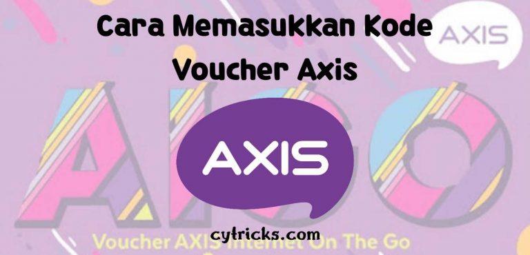 Cara Memasukkan Voucher Axis
