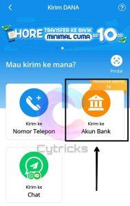 Cara Transfer DANA Ke Bank: Kirim ke akun Bank