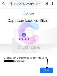 Kirim Kode Verifikasi Ke Email Pemulihan
