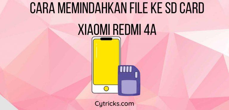 Cara Memindahkan File Ke Sd Card Xiaomi Redmi 4A