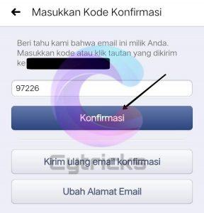 Masukkan Kode Konfirmasi