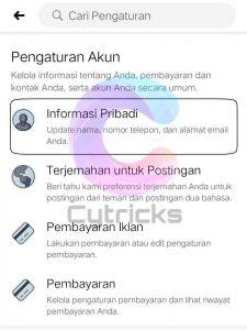 Informasi Pribadi Akun Facebook