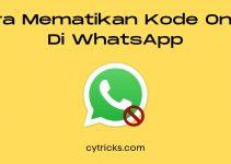 TERBARU Cara Mematikan Kode Online Di WhatsApp 100% Berhasil