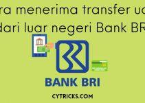 Cara Menerima Transfer Uang Dari Luar Negeri Bank BRI MUDAH!